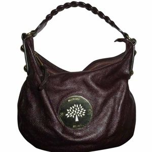 Mulberry Daria Medium Grape Leather Hobo Bag